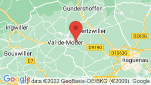 Carte de localisation du centre de contrôle technique NIEDERMODERN