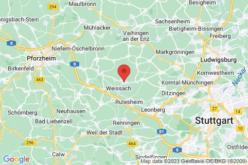 Karte Weissach