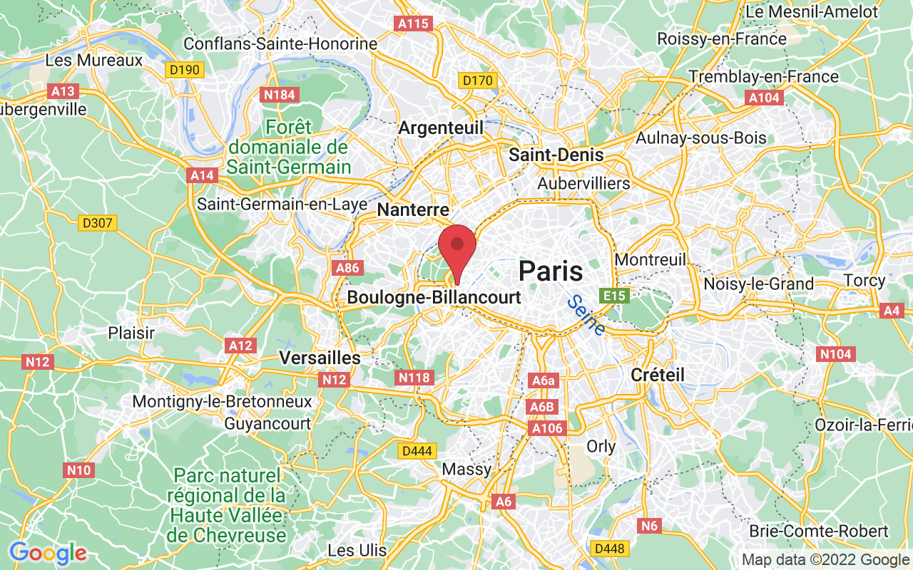 Plan de la ville de Paris 16e Arrondissement