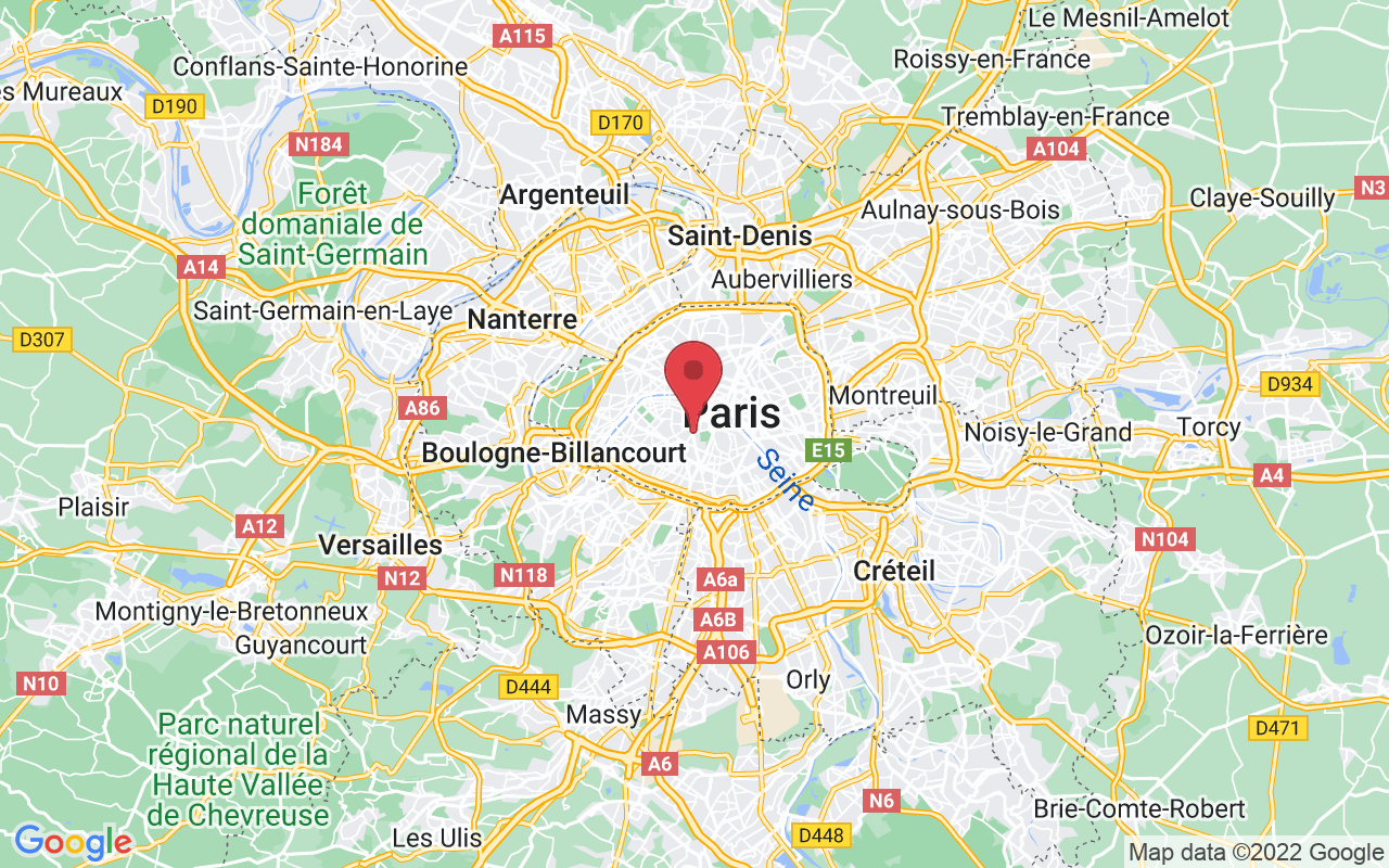Plan de la ville de Paris 6e Arrondissement