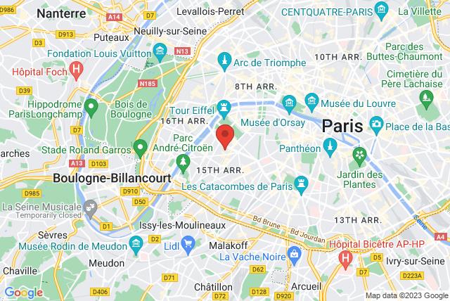 Studio 15 Pilates Paris Map