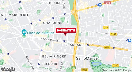 Get directions to Espace Hilti - La Plateforme du Bâtiment - Paris 20ème Davout