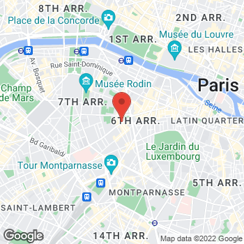Map of Salvatore Ferragamo Women's Shoes at 24, Rue de Sèvres, Paris, Paris 75007