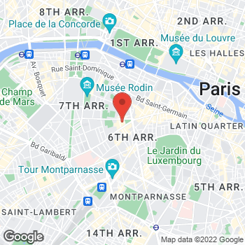Map of Salvatore Ferragamo Men's at 24 Rue de Sèvres 1st Floor, Paris, Île-de-France 75007