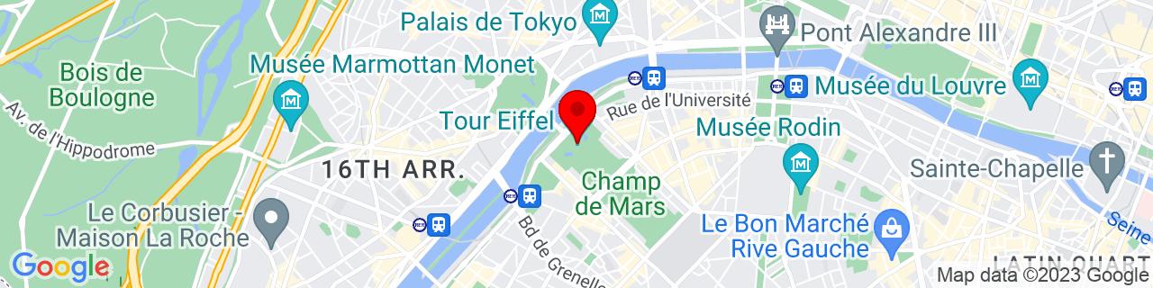Google Map of 48.85837009999999, 2.2944813000000295