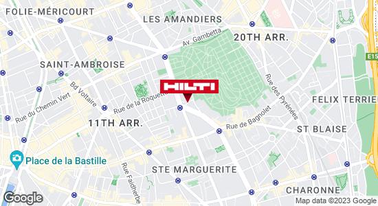 Get directions to Espace Hilti - La Plateforme du Bâtiment - Paris 20ème Charonne