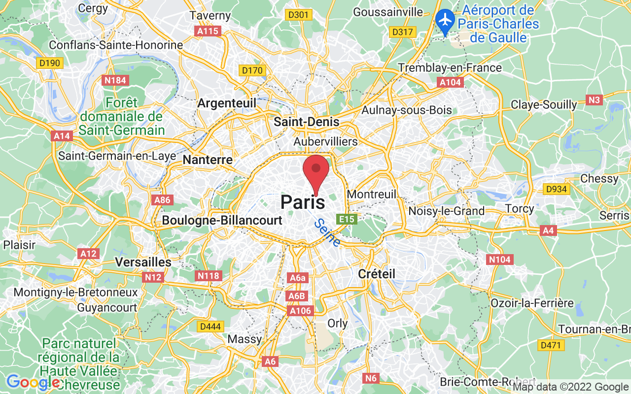Plan de la ville de Paris 11e Arrondissement