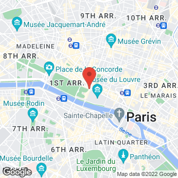 Map of Salvatore Ferragamo at 99 Rue de Rivoli, Paris, Paris 75001