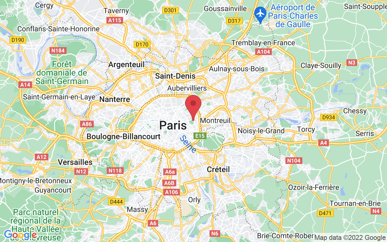 Plan de la ville de Paris 20e Arrondissement