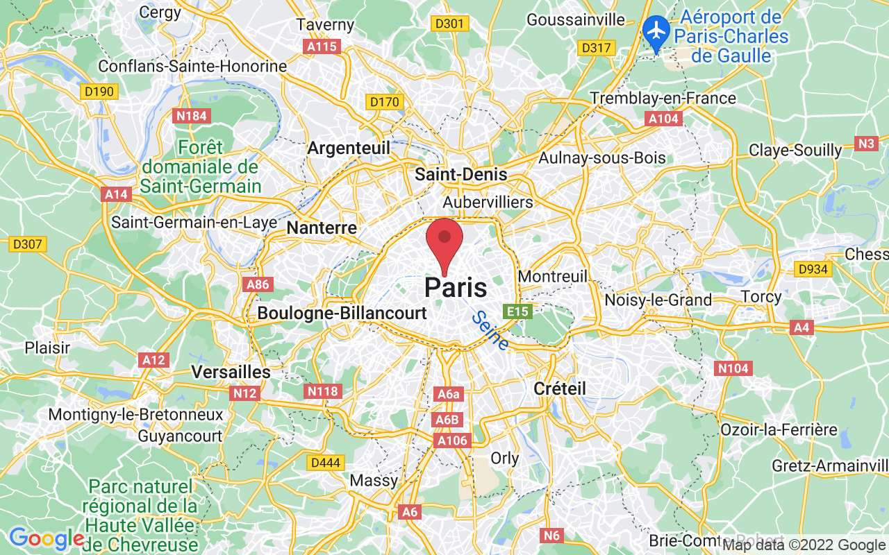 Plan de la ville de Paris 1er Arrondissement