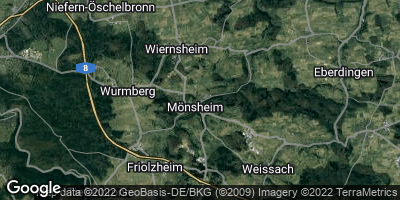 Google Map of Mönsheim