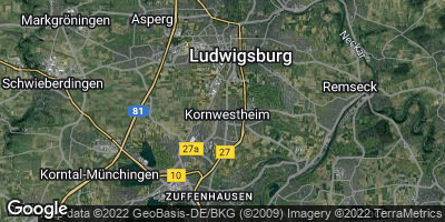 Google Map of Kornwestheim