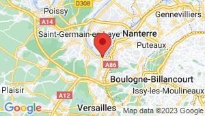 Carte de localisation du centre de contrôle technique BOUGIVAL