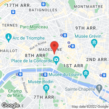 Map of Salvatore Ferragamo at 46 Rue du Faubourg Saint-Honoré, Paris, Paris 75008