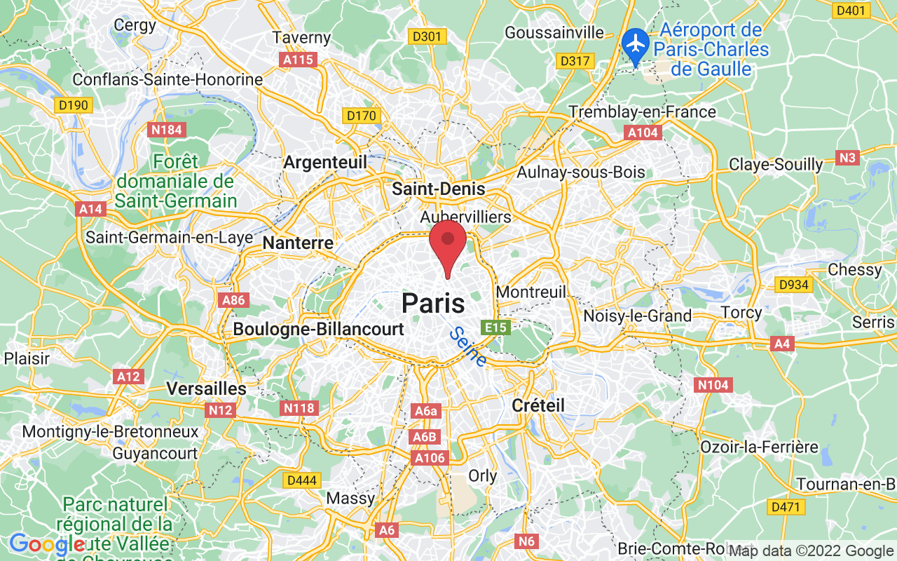 Plan de la ville de Paris 10e Arrondissement