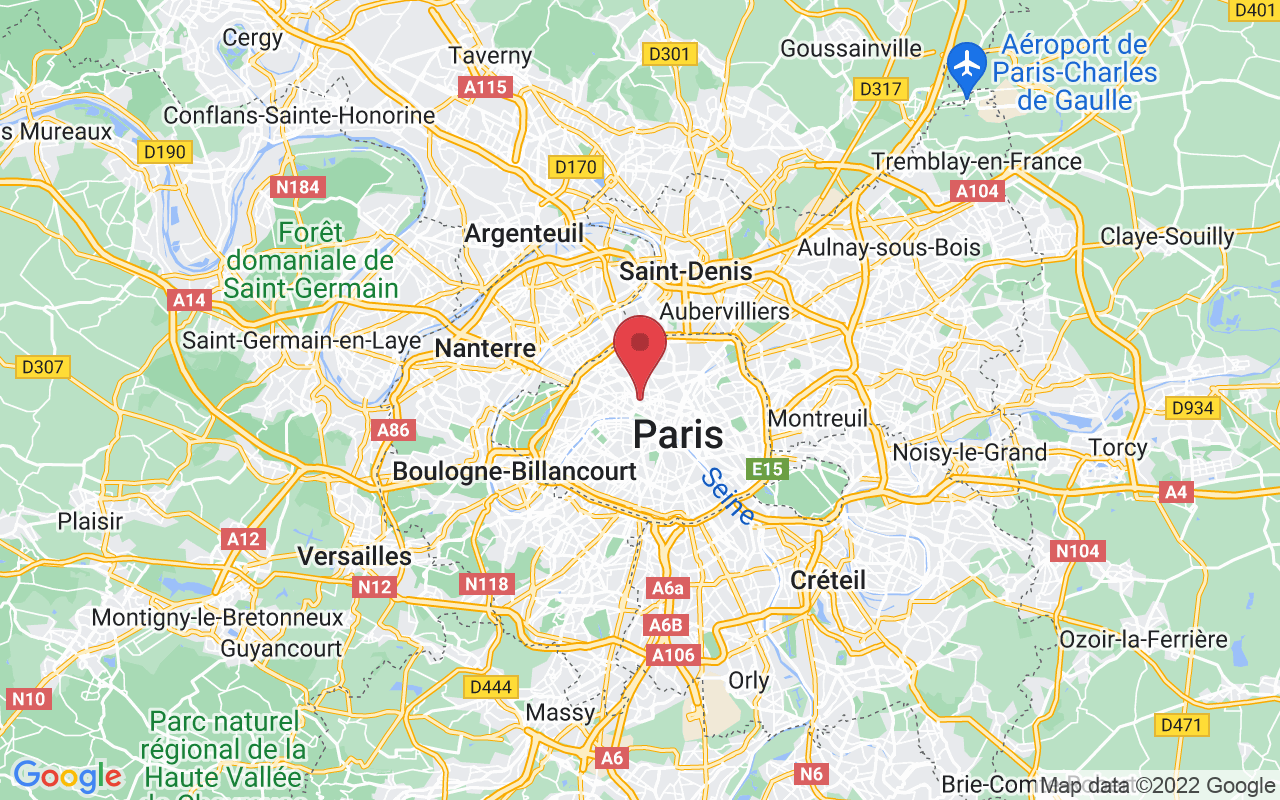 Plan de la ville de Paris 9e Arrondissement