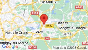 Carte de localisation du centre de contrôle technique ESBLY