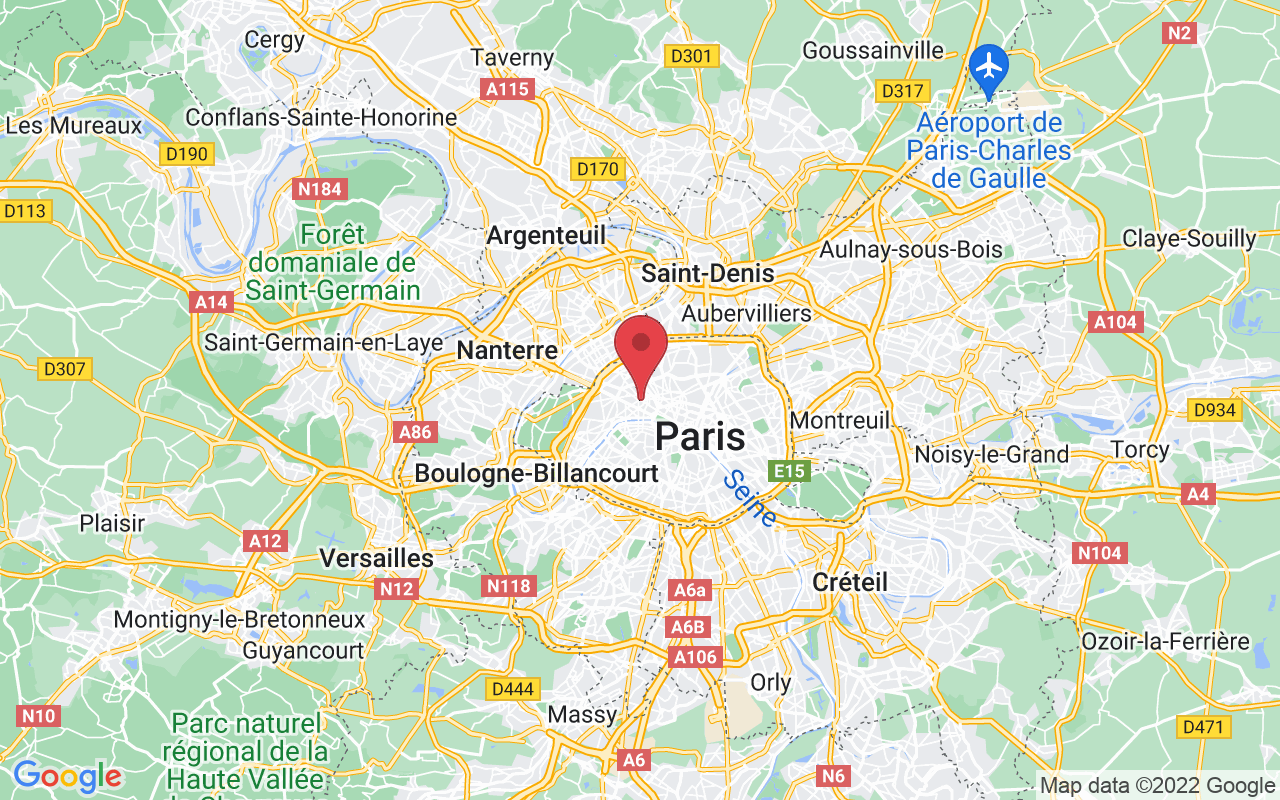 Plan de la ville de Paris 8e Arrondissement