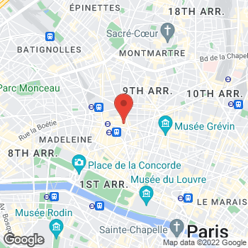 Map of Salvatore Ferragamo Men's at 40 Boulevard Haussmann, Paris, Paris 75009