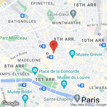 Map of Salvatore Ferragamo Women's at 40 Boulevard Haussmann, Paris, Île-de-France 75009
