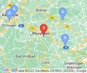 Karte für Waldklettergarten Pforzheim
