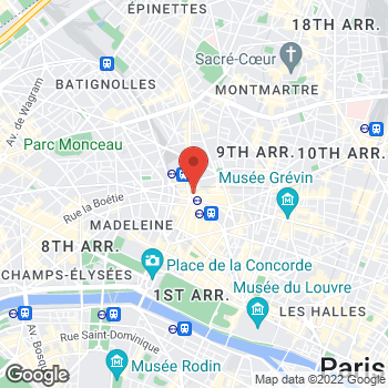 Map of Salvatore Ferragamo Men's Accessories at 61 Rue de Caumartin, Paris, Île-de-France 75009