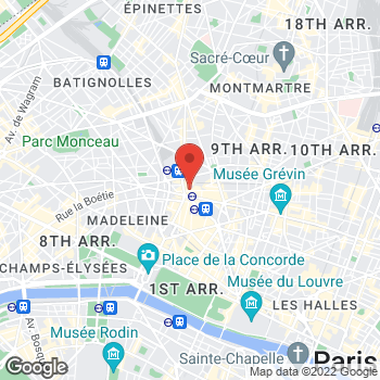 Map of Salvatore Ferragamo Men's at 61 Rue de Caumartin, Paris, Île-de-France 75009