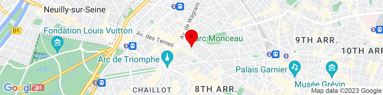 Google Map of 48.87761099999999, 2.3020071999999345