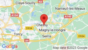 Carte de localisation du centre de contrôle technique CHESSY