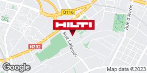 Get directions to Espace Hilti - La Plateforme du Bâtiment - Villemonble