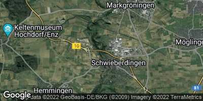 Google Map of Schwieberdingen