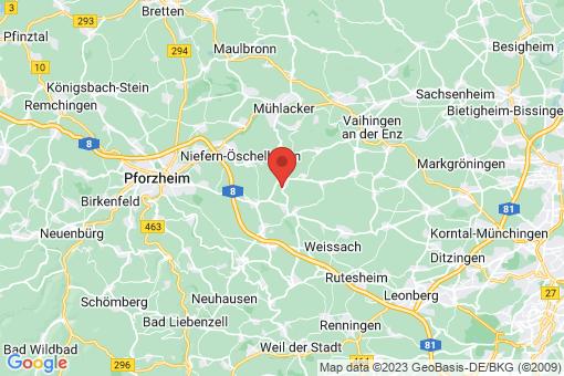 Karte Wiernsheim