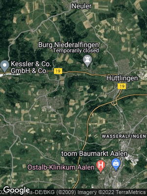 Google Map of Schloßreute