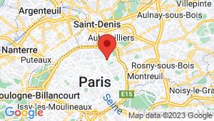 Carte de localisation du centre de contrôle technique PARIS 19em