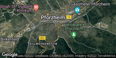 Google Map of Pforzheim