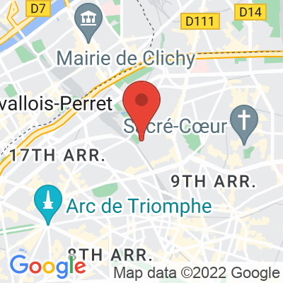 Map showing DOSE - Dealer de café • BATIGNOLLES