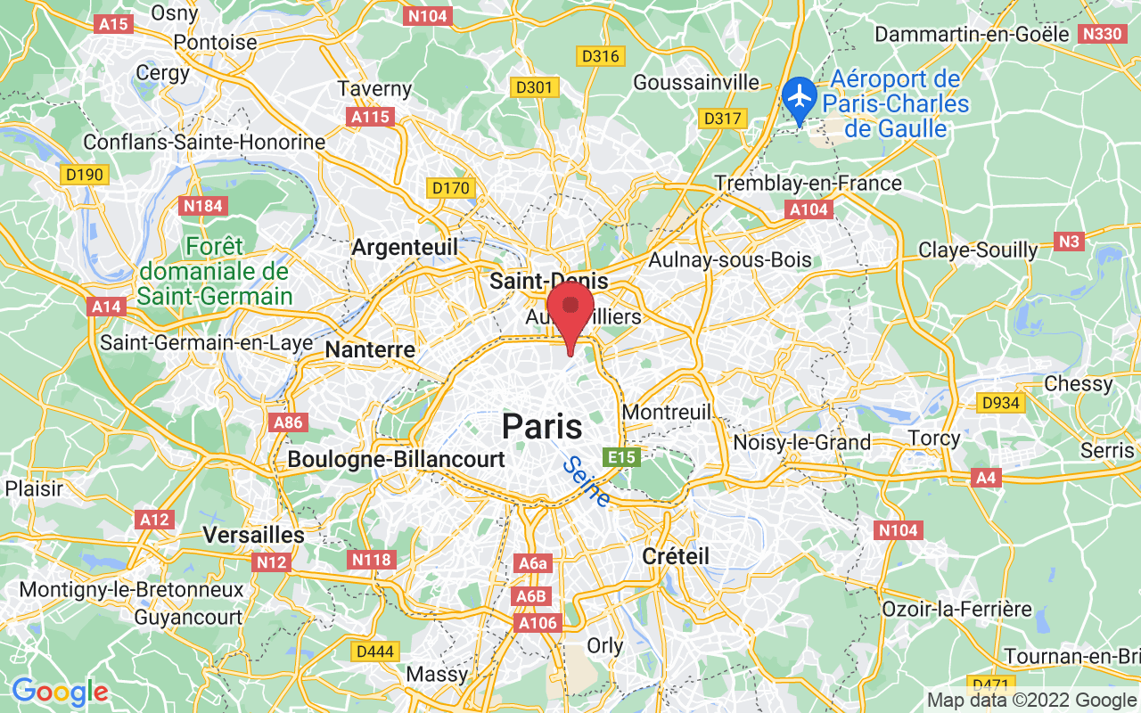 Plan de la ville de Paris 19e Arrondissement