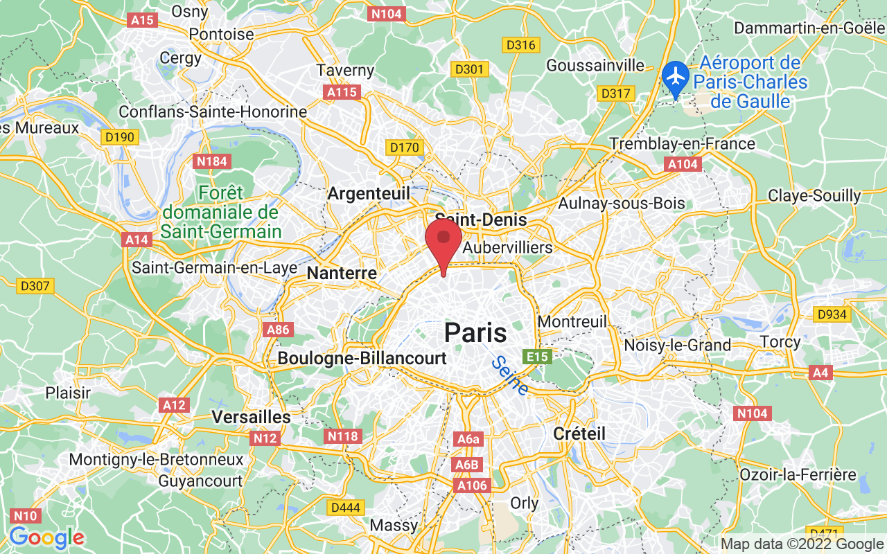 Plan de la ville de Paris 17e Arrondissement