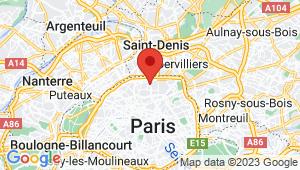 Carte de localisation du centre de contrôle technique PARIS 18em