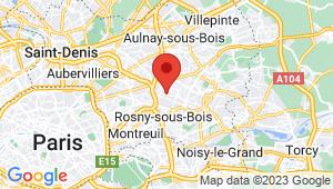 Carte de localisation du centre de contrôle technique BONDY