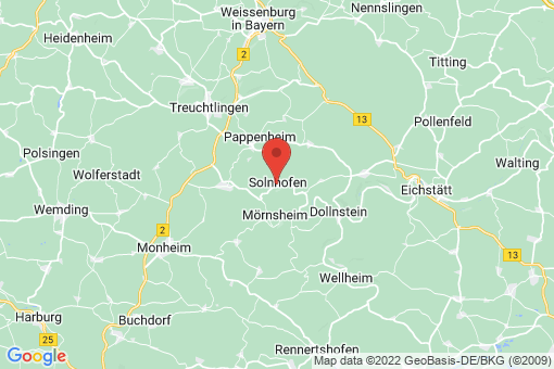 Karte Solnhofen