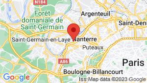 Carte de localisation du centre de contrôle technique NANTERRE