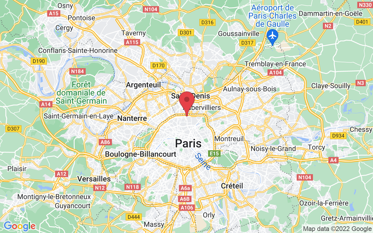 Plan de la ville de Paris 18e Arrondissement