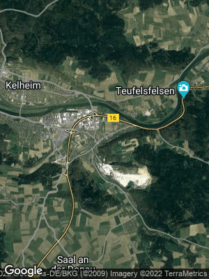 Google Map of Saal an der Donau