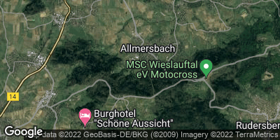 Google Map of Allmersbach im Tal