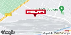 Get directions to Espace Hilti - La Plateforme du Bâtiment - Pantin