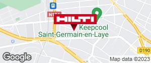 Get directions to Espace Hilti - La Plateforme du Bâtiment - St-Germain-en-Laye