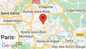 Carte de localisation du centre de contrôle technique LE RAINCY