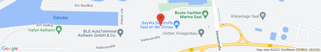 BayWa Baustoffe Kelheim / Saal Anfahrt