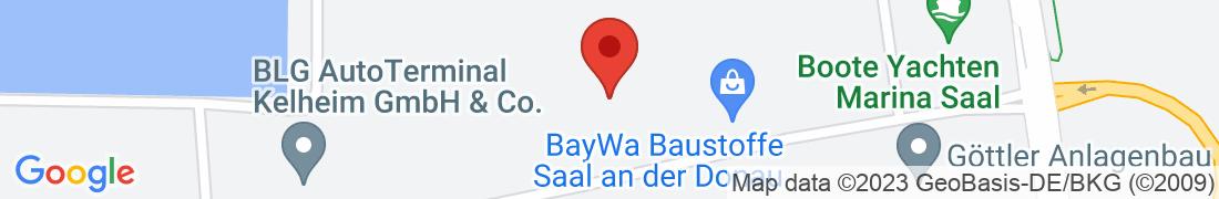 BayWa Baustoffe Saal Anfahrt